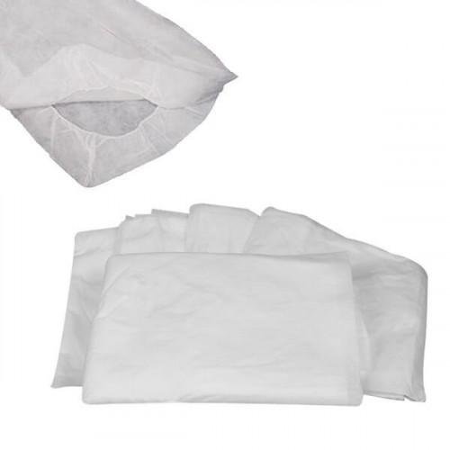 Sábana ajustable blanca 20 grs. 80x210 cm.