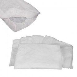 Sábana ajustable blanca 40 grs. 80x210 cm.