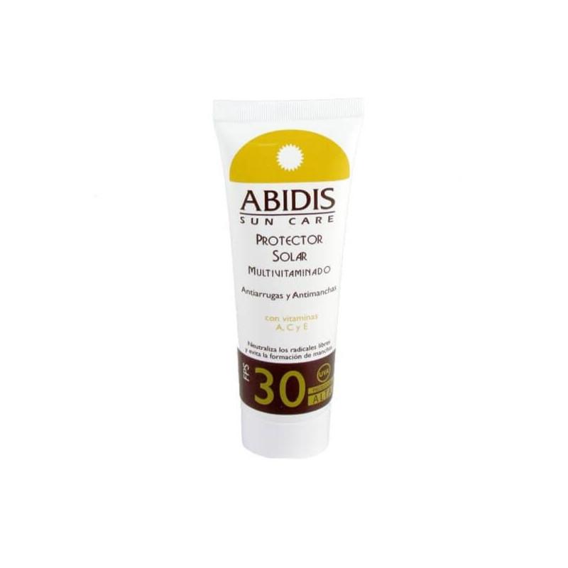 Abidis - FOTOPROTECTOR SOLAR facial FPS 30. Antiarrugas y antimanchas - 75 ml
