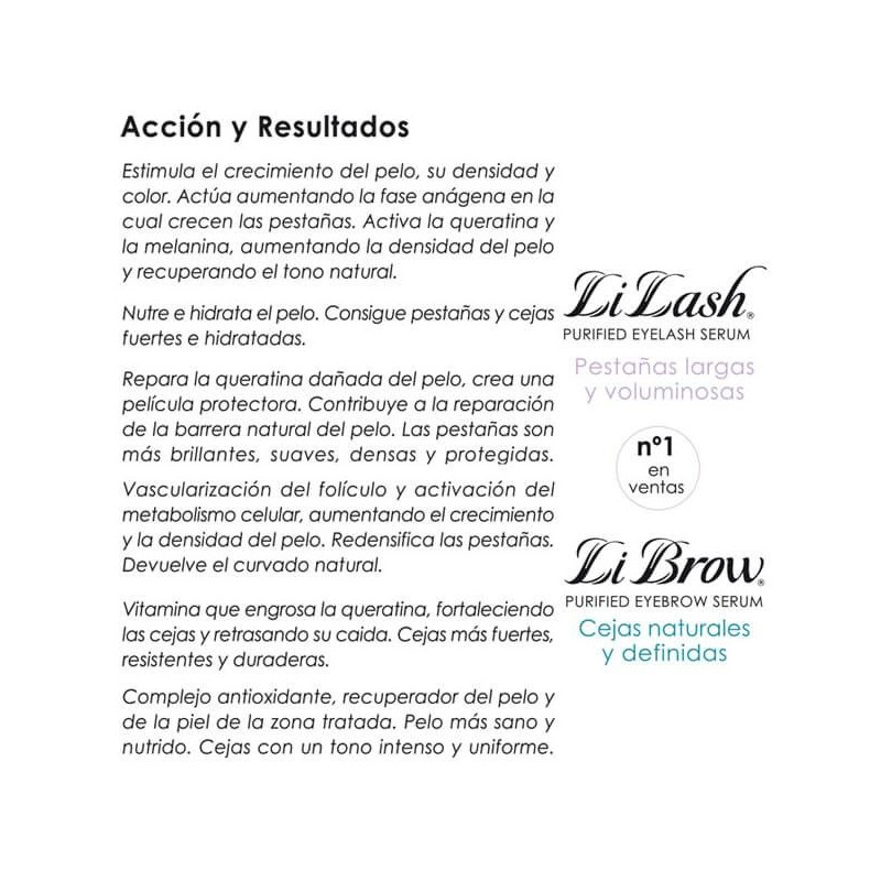 Li Lash - Tratamiento para crecimiento de Pestañas 2ml.