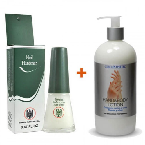 Pack Manos y Uñas - Endurecedor QA + Crema de manos