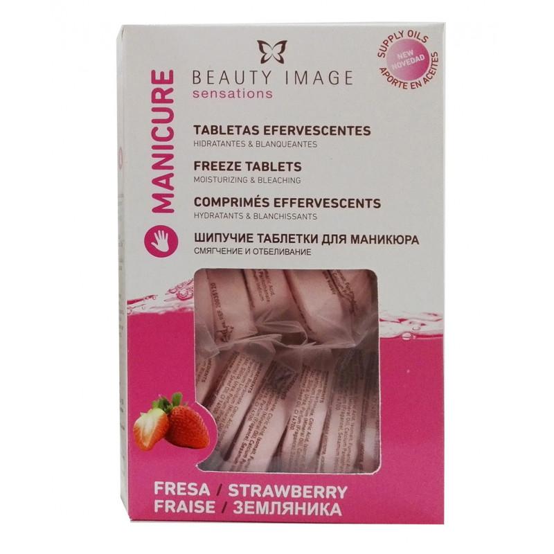Beauty Image - Tabletas efervescentes manicura fresa - 20uds.