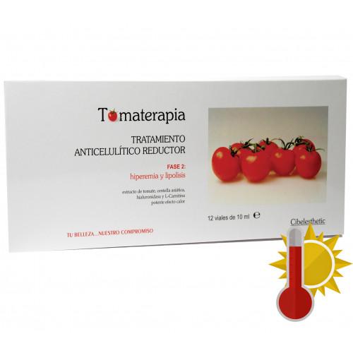 Cibelesthetic - Ampollas Anticelulíticas y Reductoras de tomate - 12ud.x10ml