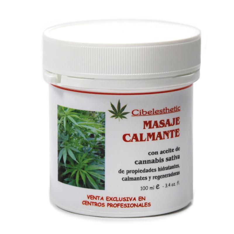 Cibelesthetic - Expositor Crema Calmante con aceite de cannabis - 12ud. x 100ml.