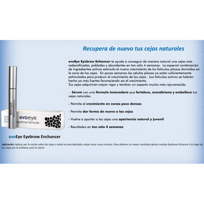 EvoEye Eyebrow Enhancer. Fórmula de Crecimiento de Cejas 6ml.