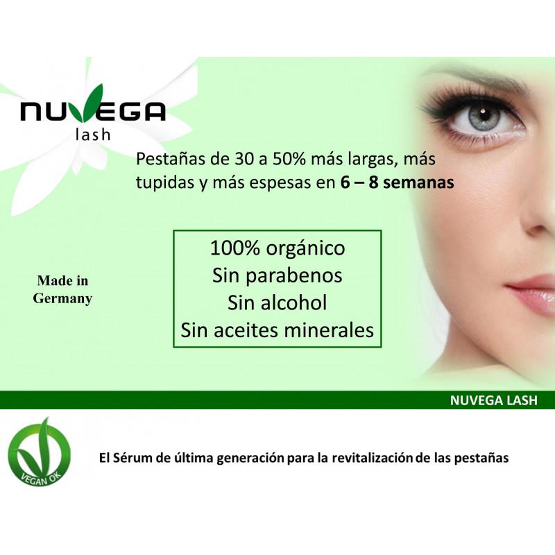 Nuvega Lash Serum. Revitalizador de Pestañas 100% Vegano 3ml.