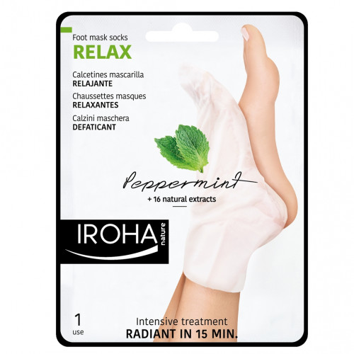 Iroha Nature - Calcetines trat. Intensivo PIES Y UÑAS Menta (2 ud - Monouso)