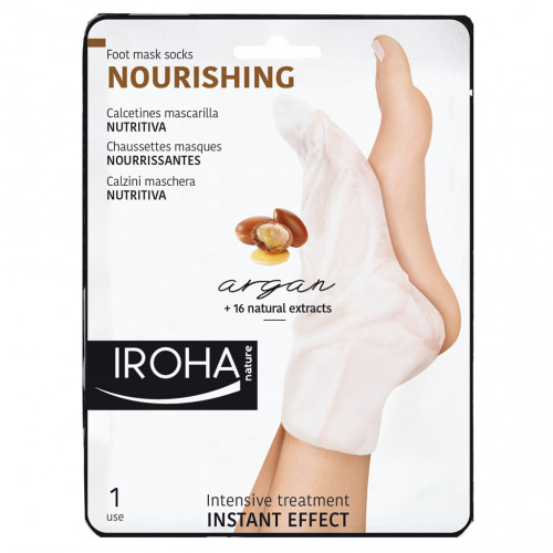 Iroha Nature - Calcetines trat. Intensivo PIES Argán (2 ud - Monouso)