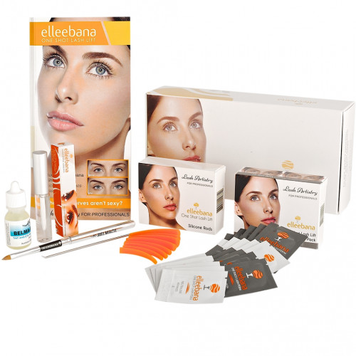 Elleebana One Shot Lash Lift.  Kit Lifting de pestañas