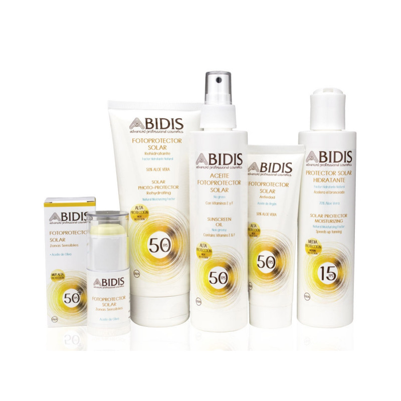 Abidis - Fotoprotector solar hidratante FPS 50 - 200ml.