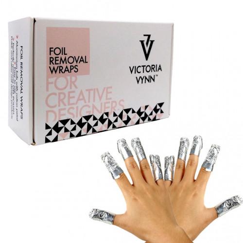 Victoria Vynn - Foil removal wraps. Aluminio con algodón 50 uds.