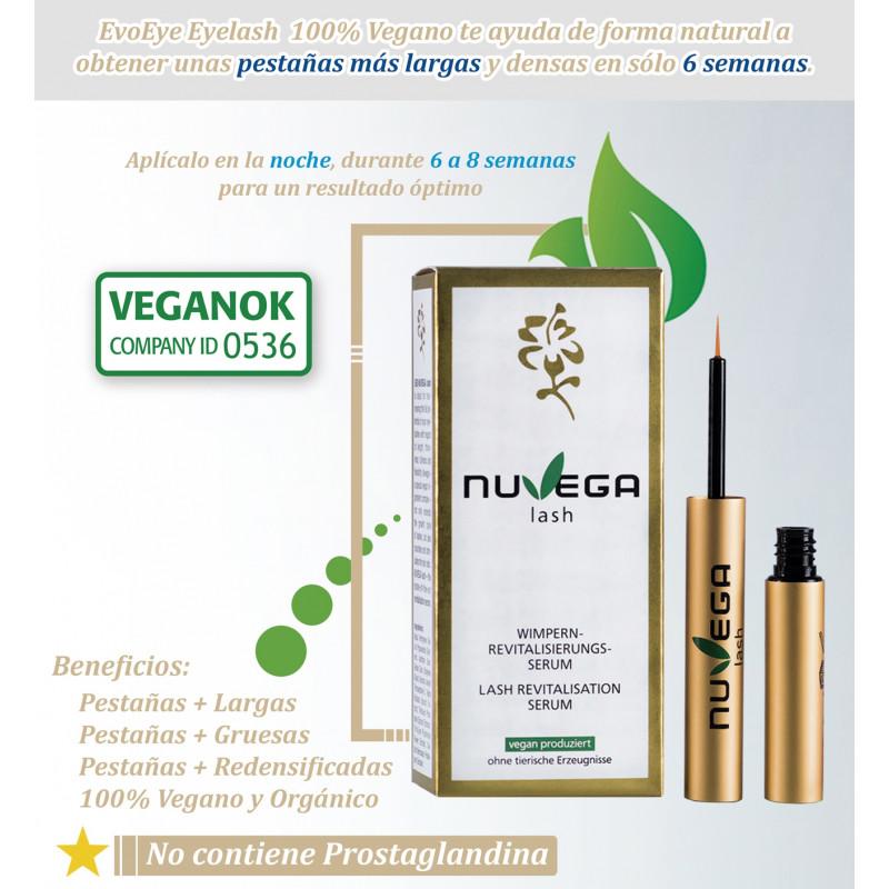 Nuvega Lash Serum. Revitalizador de Pestañas 100% Vegano 1ml.