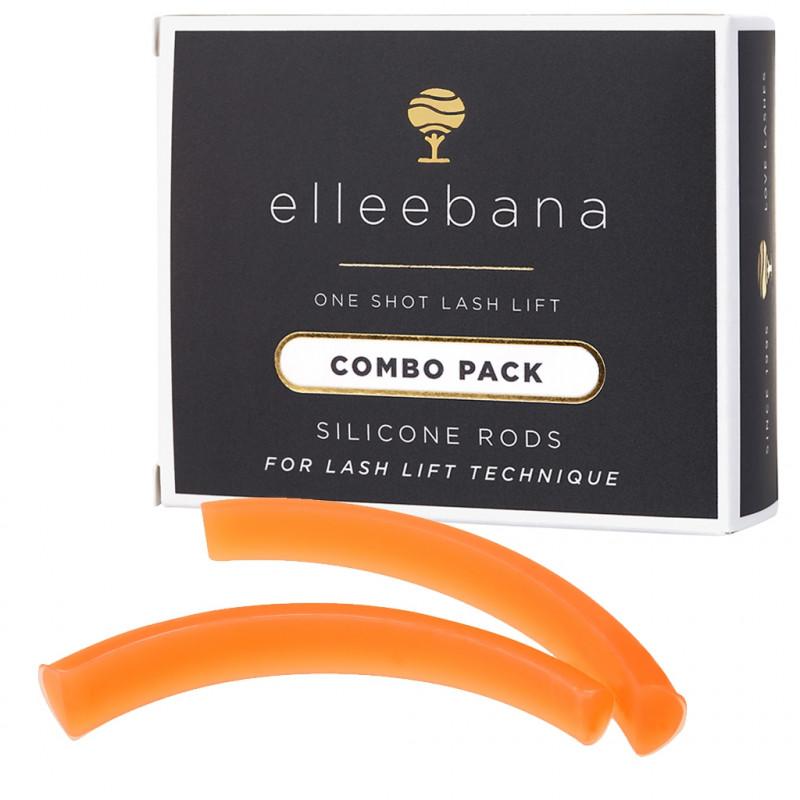 Elleebana - Lifting de pestañas: Combo pack moldes de silicona (4 pares)
