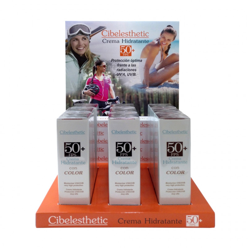 Cibelesthetic - Hidratante con COLOR y Protección solar FPS 50+ - 50ml.