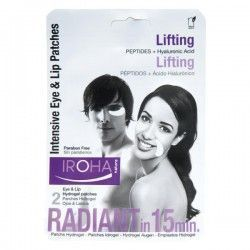Iroha Nature - Parches Contorno de Ojos Lifting Intensivo - Péptidos + Hidrogel (2 ud - Monouso)